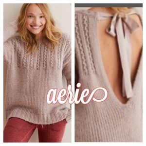 Aerie | Open Back Ribbon Chunky Sweater